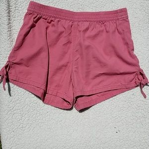 Madewell side tie pull on shorts Sz S Rose pink